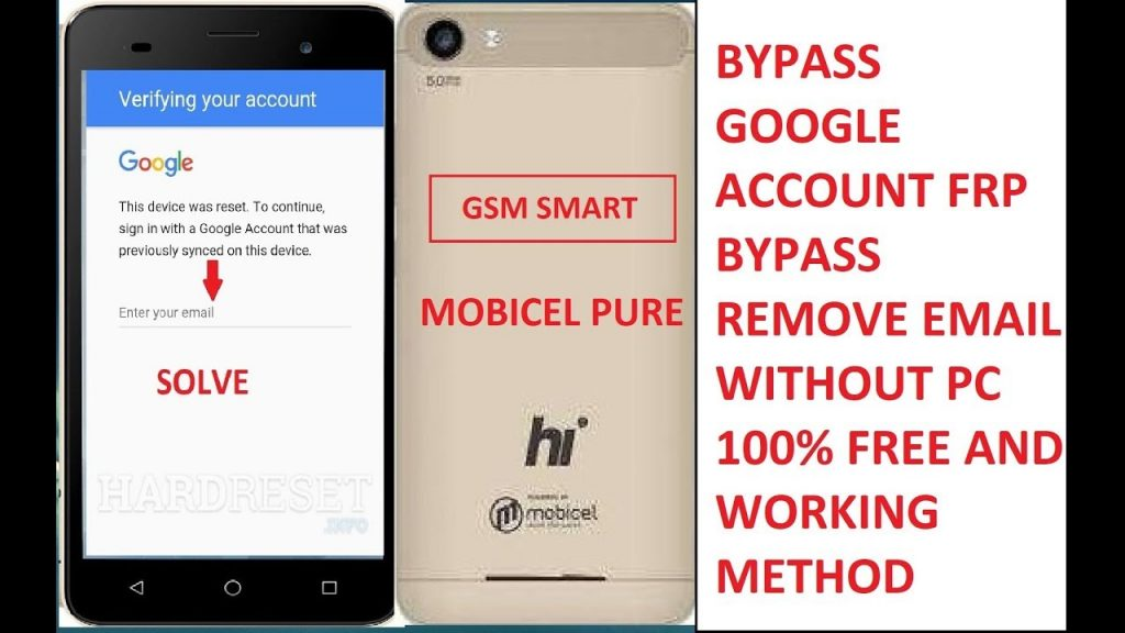 bypass google account on mobicel Astro