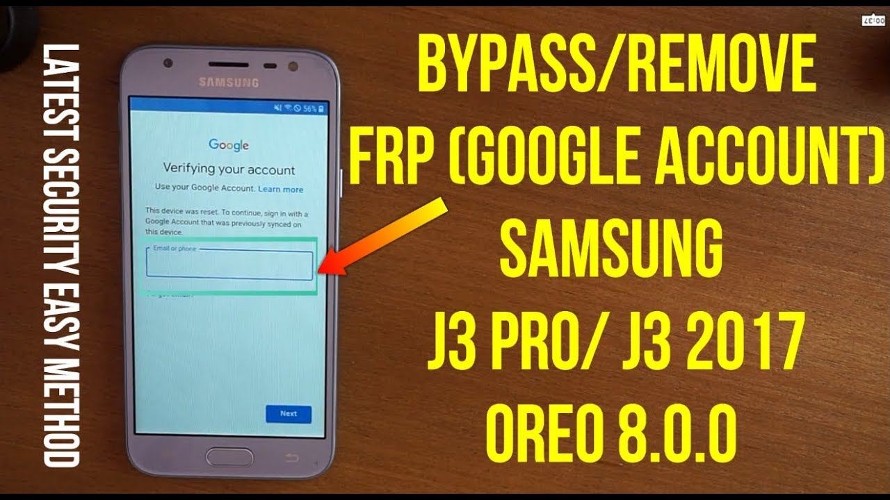 Bypass Frp google account samsung j3 pro (j3 2017) oreo 8.0 without pc