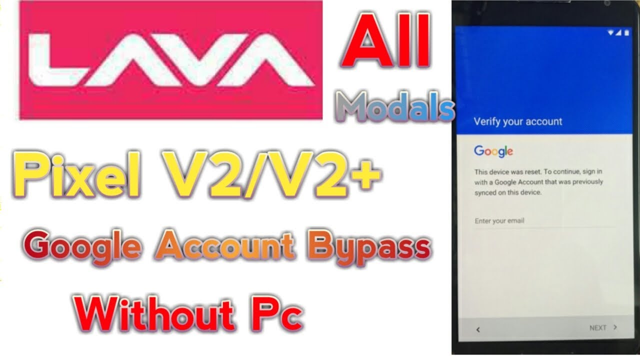 Lava Pixel V2/V2+ Frp Unlock Google Account Bypass without pc 100%
