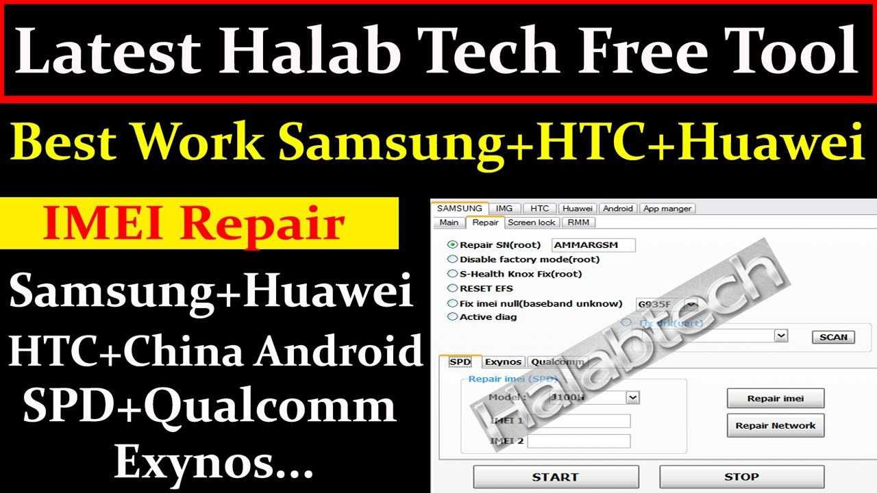 Latest Halab Tech Free Tool Best Work Samsung,HTC,Huawei and Android By AMS TECH