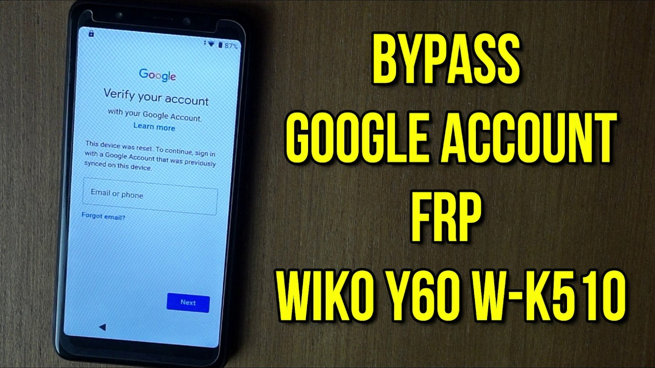 Bypass frp google account wiko y60 w-k510