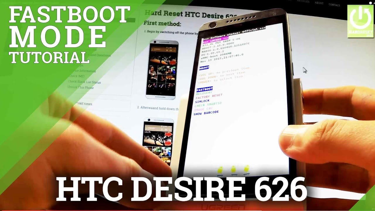 Fastboot Mode HTC Desire 626 – Enter / Quit HTC Fastboot