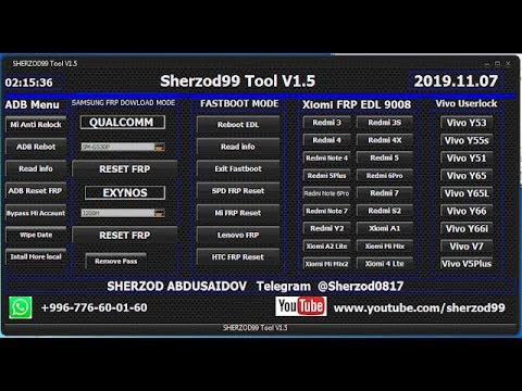 How To Download Sherzod99 Tool v1.5 Frp Unlock Tool 2019 Free Password By Androidtipsbd71
