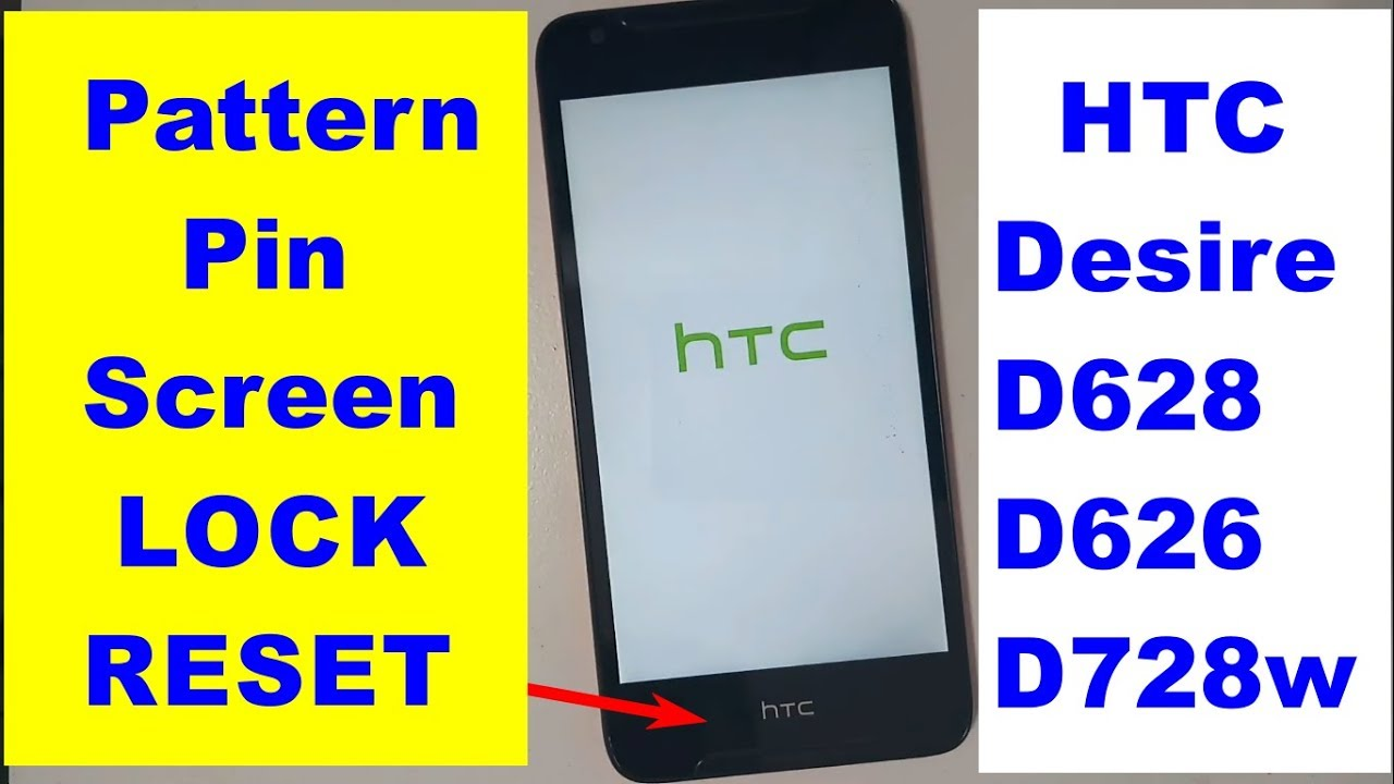 HTC Desire D628 D626 D728w How To Hard Reset Lock REMOVE 2018
