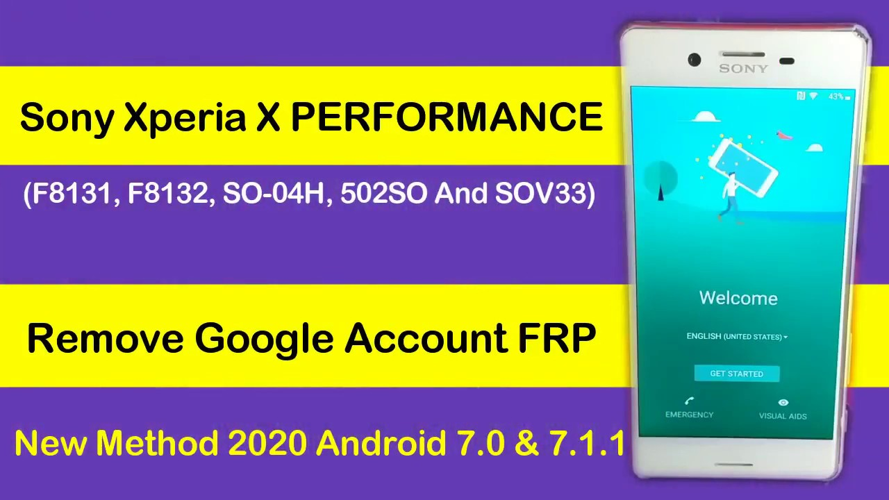 Sony Xperia X Performance (SO-04H) FRP Lock Remove Android 7.0 Without Computer 2020 Method