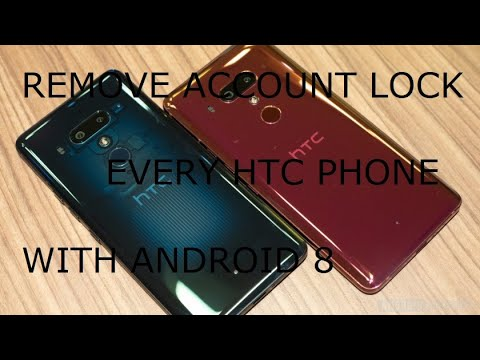 All HTC Phones Remove Account Bypass FRP HTC 10, 9, 8, U11, U12 With Android 8 & 9